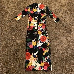 Alice + Olivia Dresses - Alice Olivia Delora Valley Lake Floral Dress Sz 0